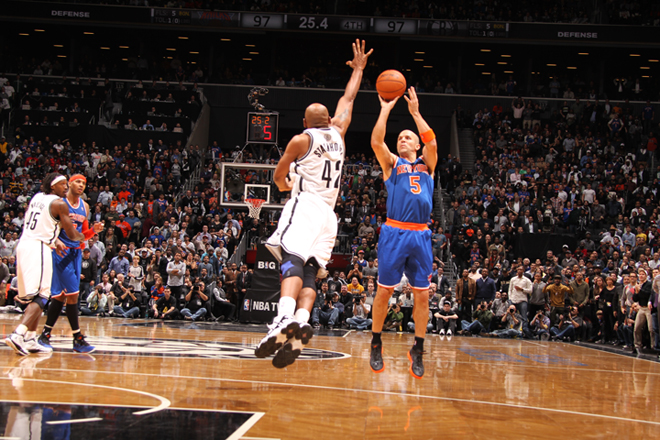 c40e52bcb Jason Kidd knocked down his sixth three of the night with 24 seconds left  to give the Knicks a win in Brooklyn (Getty Images).
